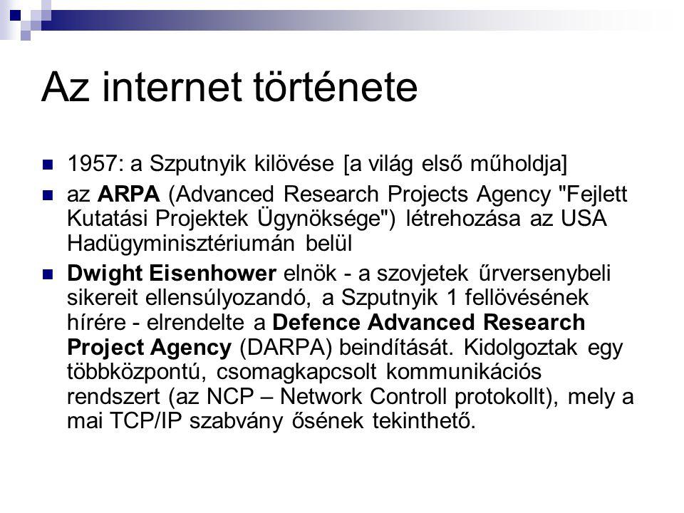 Az internet története 1957: a Szputnyik kilövése [a világ első műholdja]